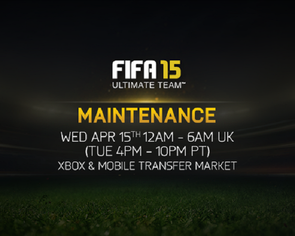FIFA 15 down for maintenance today