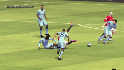 Manchester City vs Manchester United on FIFA 15